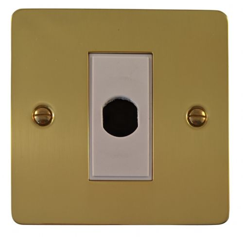 G&H FB79W Flat Plate Polished Brass 1 Gang Flex Outlet Plate